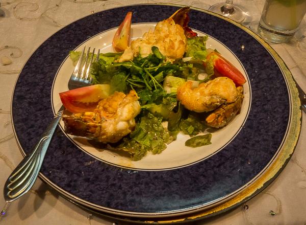 Lobster at Paladar San Cristobal, Havana, Cuba