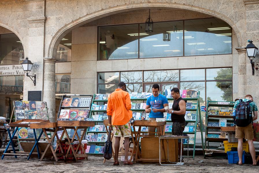 Book stall, Plaza de Armas, Havana, Cuba