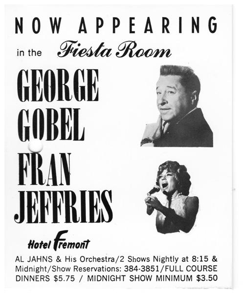 George Gobel and Fran Jeffries