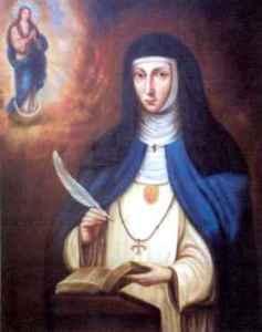 Maria Agreda 17. századi spanyol misztikus szerzetesnő