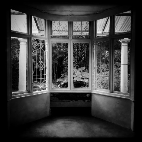 One of two original bay windows that still stand at the Gordon Road house [photo: Germain de Larch]