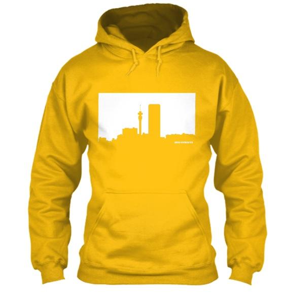 Jozi Streets Hoodie Yellow-White