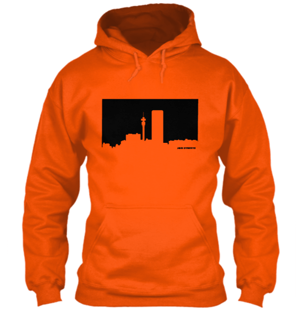 Jozi Streets Hoodie Orange Black