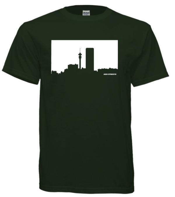 Joburg T-shirt Dark Green White Print