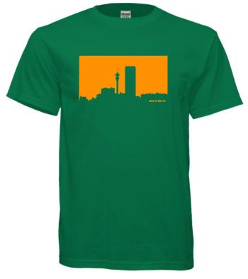 Jozi Streets Shamrock Green T-Shirt - Tangerine