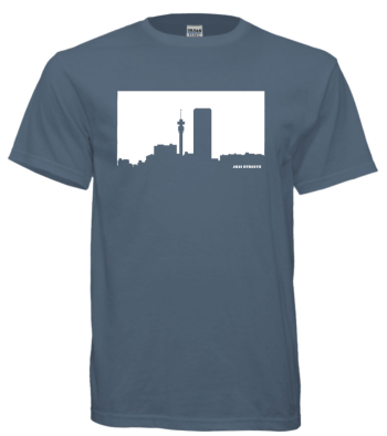 Jozi Streets Airforce Blue T-Shirt - White