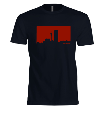 Jozi Streets Navy Blue T-Shirt - Red