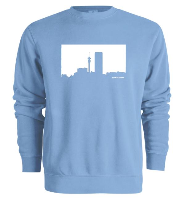 Jozi Streets Skyline Sweater Sky Blue White