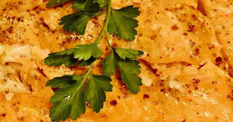 Grilled Salmon with Maple Dijon Glaze