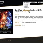 Vista Cinemas Website - Movie Page (Select Branch)