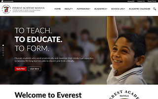 Everest Academy Manila Website