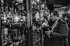 julie+wade : republic steakhouse : college station engagement photographer