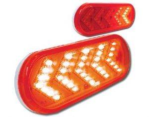 Sequential Arrow LED Amber,Chrome store for trucks, truck