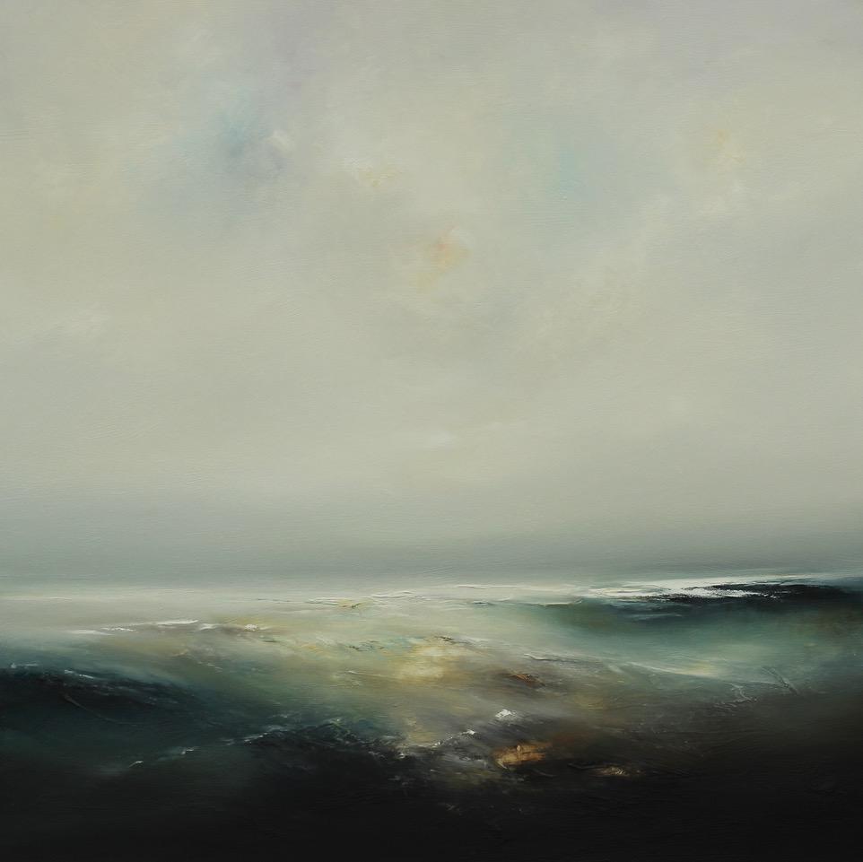 Horizon Light Oil on Board Framed 97 x 97 cm