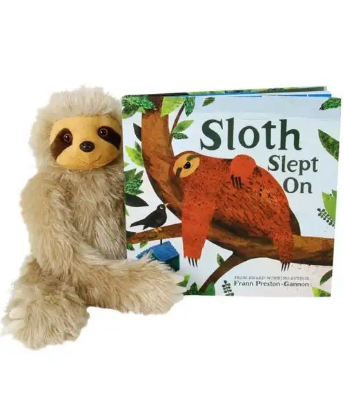 Sloth Slept On Book & Plush 2-Set HC