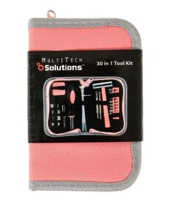 30 in 1 Ladies Tool Kit Pink/Grey