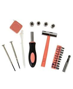 30 in 1 Tool Kits PinkGrey Pieces