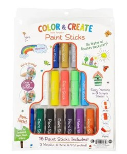 Color & Create Paint Sticks 16pc