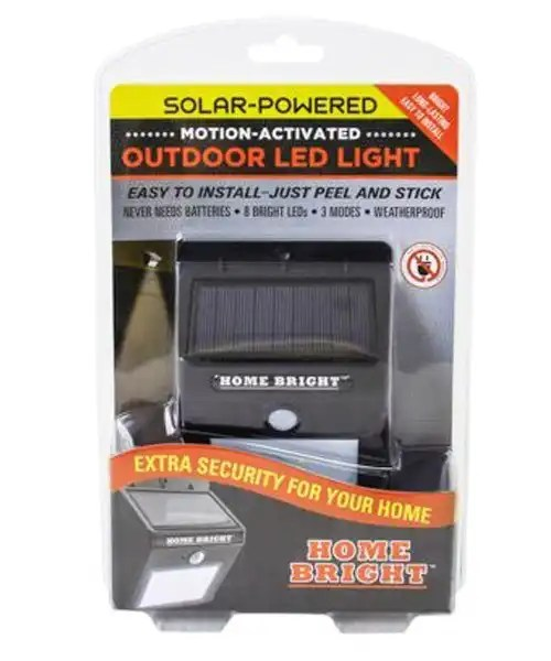 Home Bright Solar LED Security Light - Motion Activated