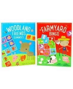 Farmyard Bingo and Woodland Friends Dominoes 2-Set