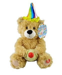 "Singing Plush Birthday Bear - ""Happy Birthday"""