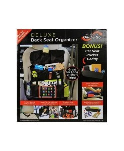 On-The-Go Back Seat Organizer With Seat Pocket Boxed