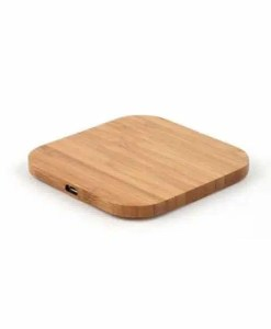 Wireless Charging Pad - Eco-Friendly Bamboo