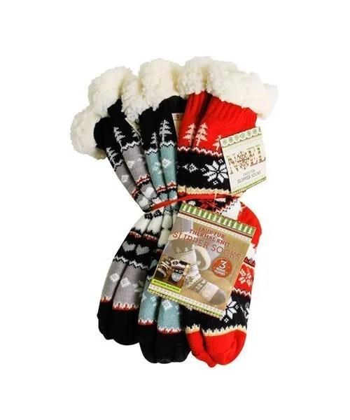 Thermal Knit Slipper Socks - Bundle