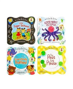 I Can Do It Shaped Board Books - 4 Book Set