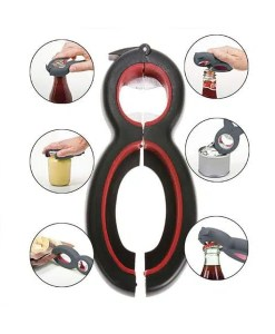 6 in 1 Multi Opener for Cans Bottles and Jars