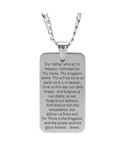 The Lord's Prayer Necklace - Prayer Back