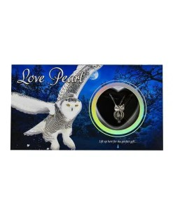 Owl Love Pearl Necklace - Front 2