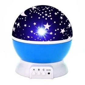 Blue - LED Starry Sky Rotating Night Light - Projector