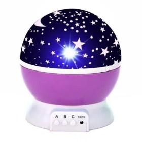 Purple - LED Starry Sky Rotating Night Light - Projector