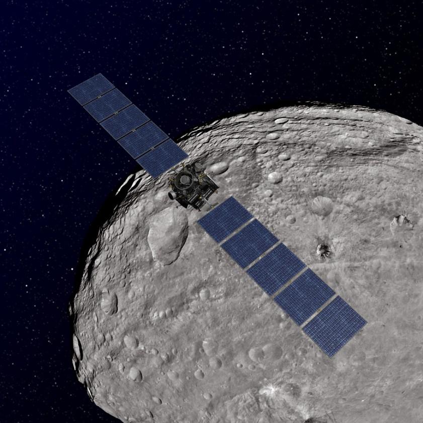 Image result for dawn spacecraft vesta