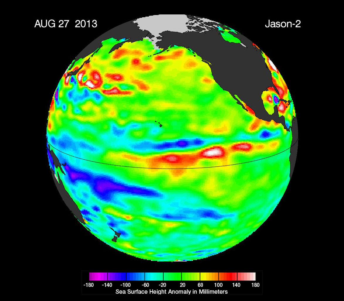 Space Images La Nada Climate Pattern Lingers In The