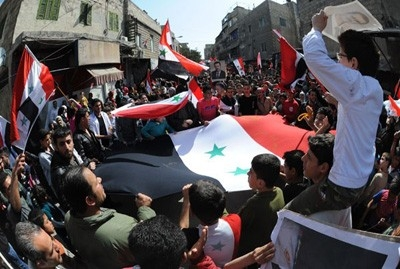 Marches in support ofSyrian Army continue across the country