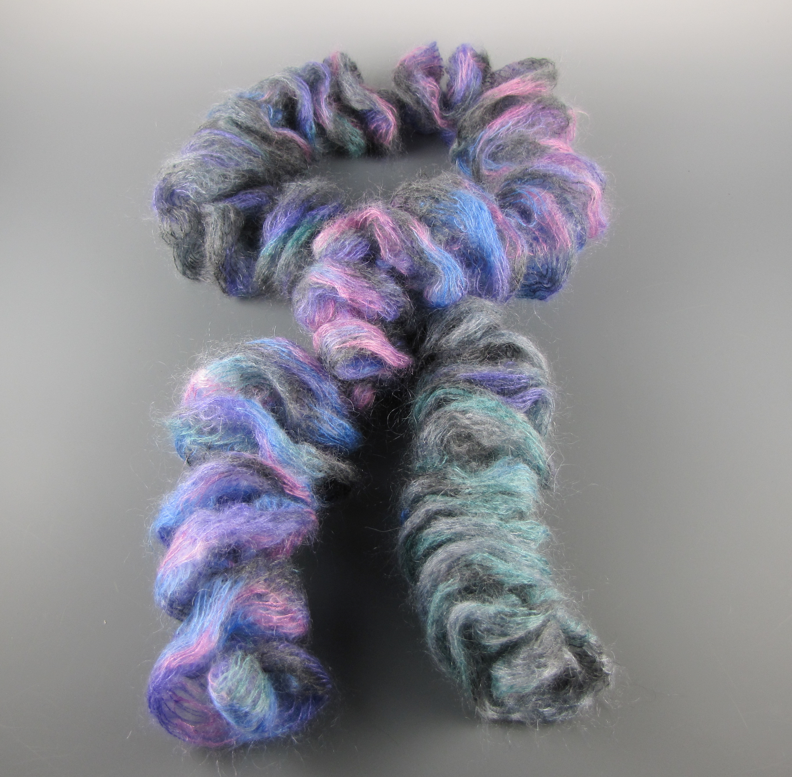 Silk and Kid Mohair Ruffled Scarf