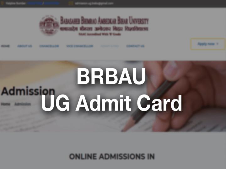 BRABU UG Admit Card