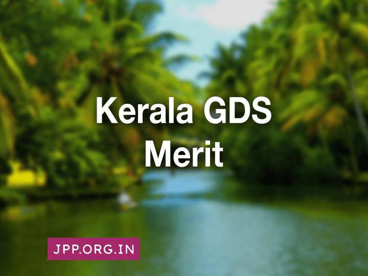 Kerala GDS Merit List