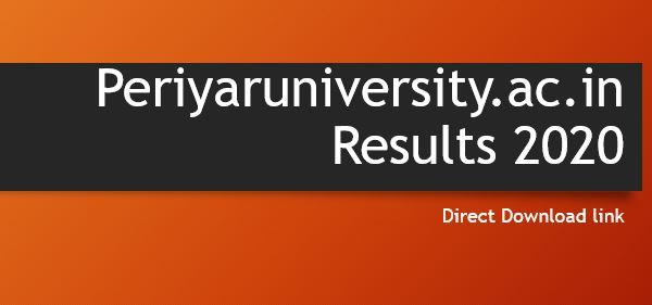 Periyar university result