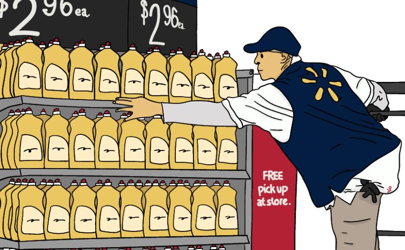 Comprando en Walmart