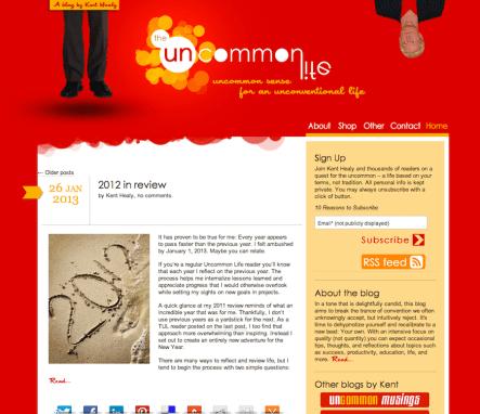 The Uncommon Life Blog