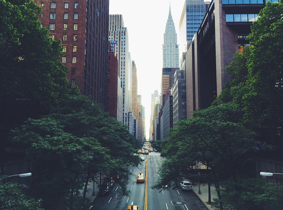 A view of the Chrysler Building in New York