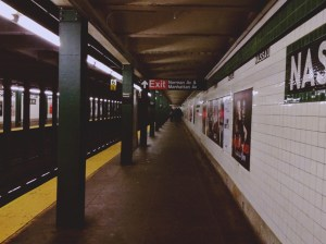 A picture of the NYC subway station.