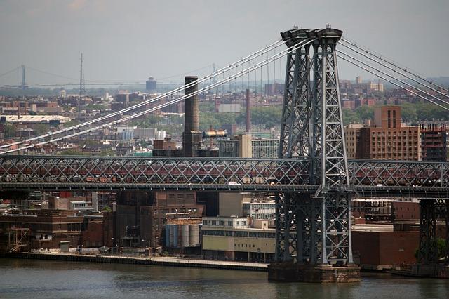 Williamsburg bridge in NYC.