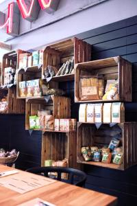 eco-friendly storage - wooden shelves