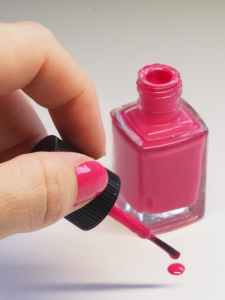 Pink nail polish is a non-movable item