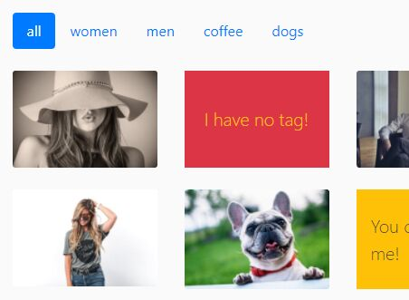 Filterable Bootstrap 4 Gallery With Lightbox Integrated Maugallery