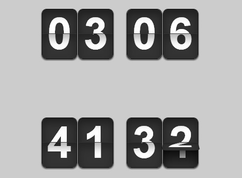 Vintage Flip Clock Style Countdown Timer Plugin For Jquery
